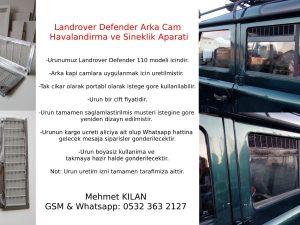 Landrover Defender havalandirma ve sineklik aparati..