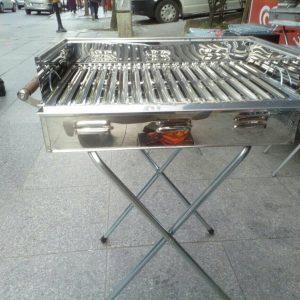 Paslanmaz çelik mangal portatif