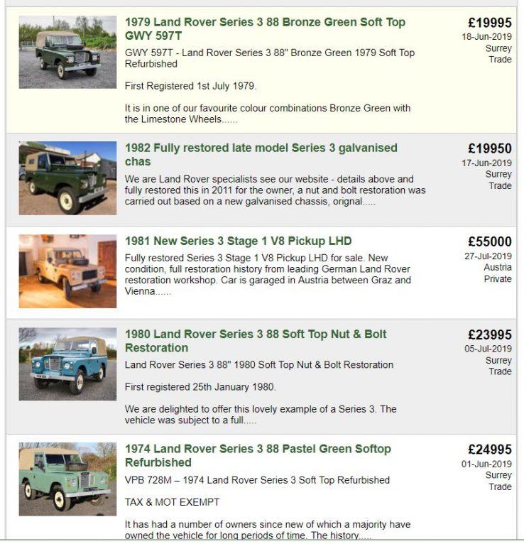 İngiltere seri 3 fiyatları