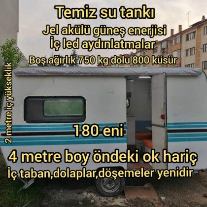 Çekme 750 kg karavan