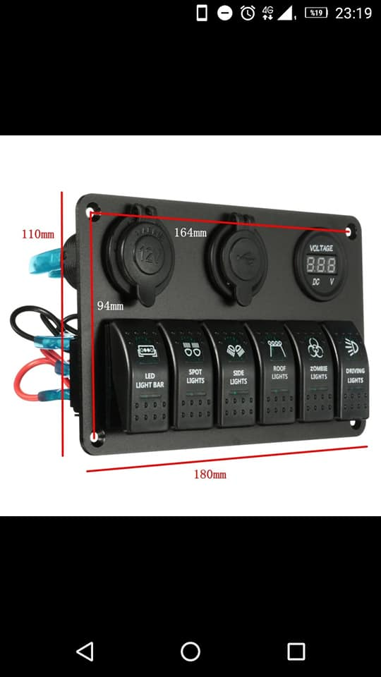 Defender orta konsol panel set