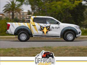 Nissan Navara EAGLE STICKER Sarı / Siyah #sticker #folyo #carwrap