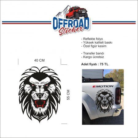 Reflekte Folyo ARSLAN Figürlü 4x4 Suv araçlar için özel tasarım arma. logo. figü...