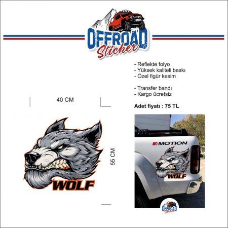 Offroadsticker WOLF Figürlü