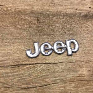 Jeep yazılı logo metalik renk