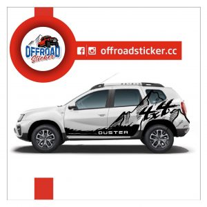 Offroadsticker 4x4 dağ figürlü sticker