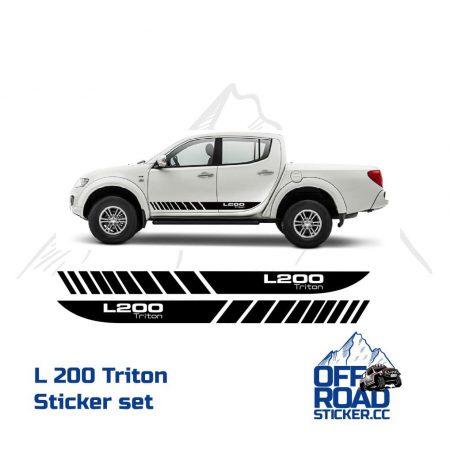 Mitsubishi L200 Triton Sticker set