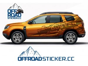 Dacia Duster Çamur izi Sticker