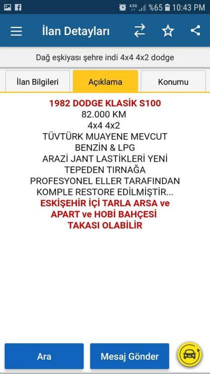 82 MODEL DODGE 4*4