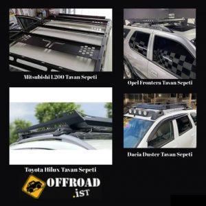 Arazi araçlarına uygun tavan sepeti modellerini ve diğer #offroadaksesuar ürünle