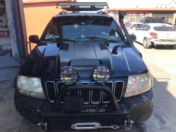 Jeep Grand Cherokee WJ Kaput Kabartma ve diğer #offroadaksesuar ekipmanları tüm