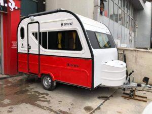 Sıfır karavan.Gunes paneli tuvalet buzdolabı full